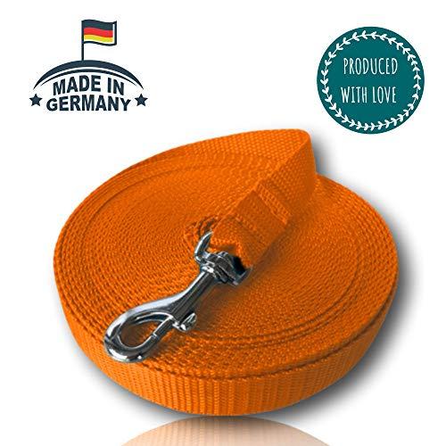 VAN WEEGEN Primo Schleppleine für kleine bis mittelgroße Hunde & Welpen bis 15 kg (5m, Orange)