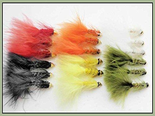 18Conehead Fliegenfischen Fliegen–6Farben