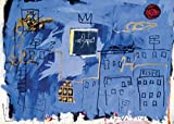Jean-Michel Basquiat – Untitled 1981 (Plane & Skyline) Poster Drucken (20,96 x 14,94 cm)