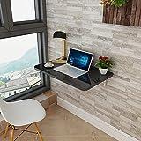 Wandtisch für kleinen Raum, Küche Wand montiert Drop Leaf Folding Esstisch Computer Schreibtisch mehrere Farbe (Farbe : Black, größe : 80 * 50cm)