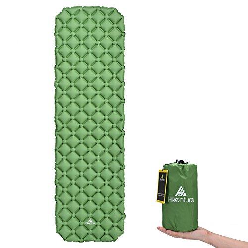 Camping Isomatte Kleines Packmaß von Hikenture® - Ultraleichte Aufblasbare Isomatte - Sleeping Pad für Camping, Reise, Outdoor, Wandern, Strand