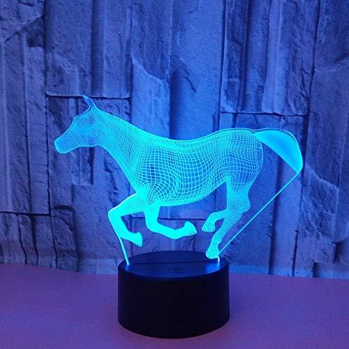 HNXDP Running Horse 7 Farbe Lampe 3d Visuelle Led Nachtlichter Für Kinder Touch Usb Tisch Lampara Lampe Baby Schlafen Nachtlicht -