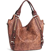 iYaffa Handbags Women Shoulder Crossbody Bags Handbags for Women PU Leather Tote Hobo Ladies Handbags Large (L: 31CM * H: 36CM * W: 15CM)