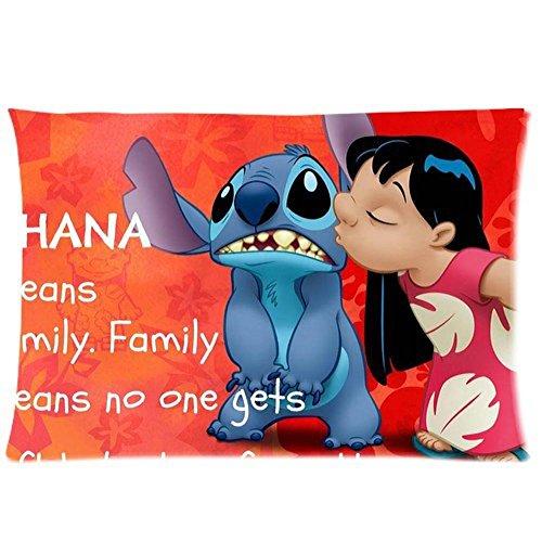 """Anime Dakimakura Federa per cuscino, motivo """"Lilo & Stitch"""" su entrambi i lati, idea regalo, circa 51 x 76 cm"""