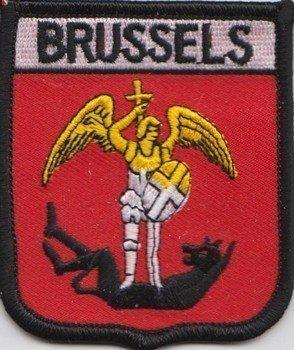 Brüssel Belgien Flagge bestickt Patch (Belgio Flag Patch)