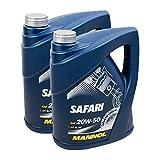 2X MANNOL MN7404-5 Safari 20W-50 Motor-Öl API SL/CF 5L