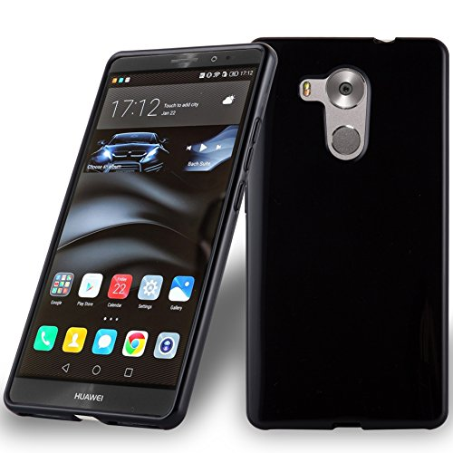 Cadorabo Hülle für Huawei Mate 8 - Hülle in SCHWARZ - Handyhülle aus TPU Silikon im Ultra Slim 'AIR' Design - Silikonhülle Schutzhülle Soft Back Cover Case Bumper