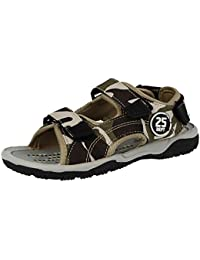 7941336e643c Kids Unisex 57700 Infant Boys Girls Faux Leather Adjustable Touch Close  Straps Open Toe Gladiator Summer Sandals…