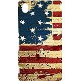 Casotec USA Flag Design Hard Back Case Cover for Sony Xperia M4 Aqua