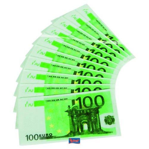 Preisvergleich Produktbild Servietten 10 St. 100 Euro Schein Falschgeld Deko Party Spielgeld