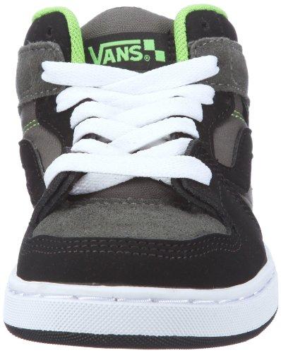 Vans Edgemont, Baskets mode garçon Noir (Blk/Chrcl/Grn)