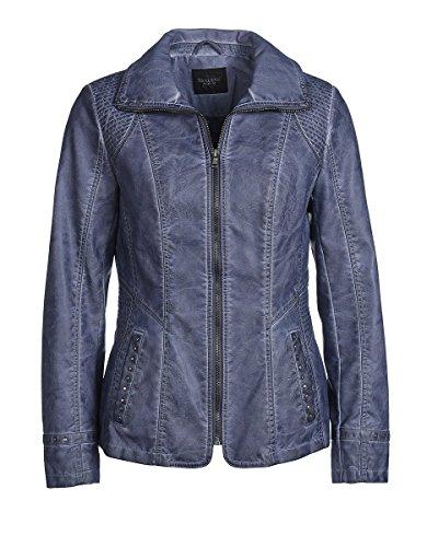Bexleys Woman Damen Jacke in Lederoptik, Blazer-Jacke, mit Nieten Jeansblau 46