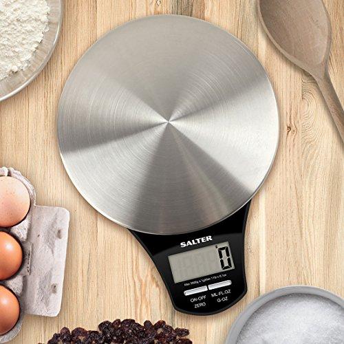 Salter 1035 SSBKDR Elektronische Küchenwaage mit Edelstahl-Teller 24 x 20 x 27,5 cm edelstahl / schwarz - 3