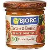 Bjorg Tartine et Cuisine-Poivrons 135 g - Lot de 3
