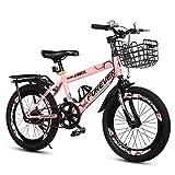 MDYMX Vélo pour Enfants Vélo Enfant Fille Primaire vélo Rose Fille Rose 7-8-9-10-11-12 Ans Grand garçon Vélo à pédales pour Enfants ( Color : Pink , Size : B )