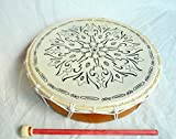 Tamburo sciamanico Telaio tamburo tamburo Bodhran in Tibet 36x 8cm