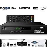 Nokta Digital 1461 HD Satelliten Sat Receiver (HDTV, DVB-S/S2, HDMI, SCART, 2x USB 2.0, Full HD 1080p) (Vorprogrammiert für Astra Hotbird und Türksat)