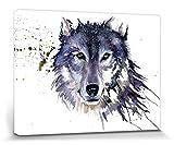 Set: Wölfe, Schneewolf, Sarah Stokes Poster Leinwandbild Auf Keilrahmen (80x60 cm) + 1x 1art1®...