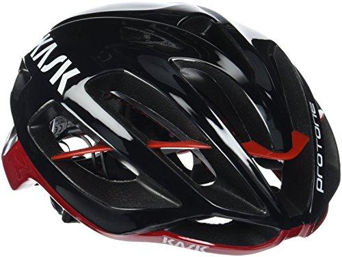 Kask Protone, casco da bicicletta multiuso, nero / rosso, M