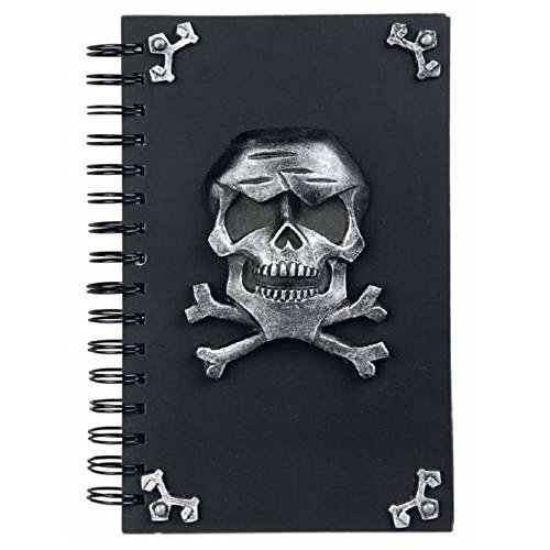 Totenschädel Notizbuch Ringbuch Schädel Skull Pirat Gothic Halloween Jolly Rogers