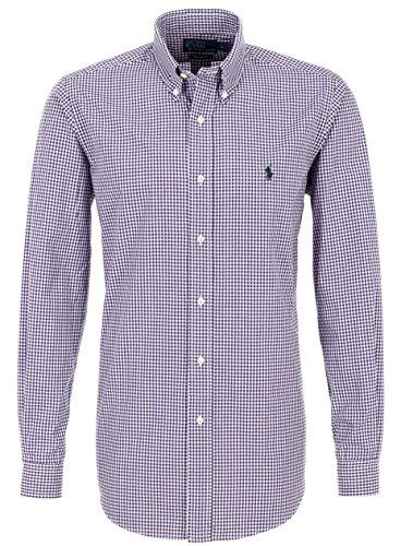 Ralph Lauren FREIZEITHEMD purple/white kariert Herren hemd violett (M) - Polo Ralph Lauren Outlet