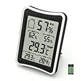 Xingzhao Digitales Thermo Hygrometer Thermometer,Indoor Digital Hygrothermograph Monitor mit Min/Max Records