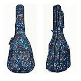 paracity Housse pour guitare acoustique classique Guitare Folk Motif 600D résistant à l\'eau Tissu Oxford Camouflage Bleu Double Coutures rembourrées Housse étui de transport pour 40104,1cm Guitare acoustique classique Guitare Folk Camouflage/bleu