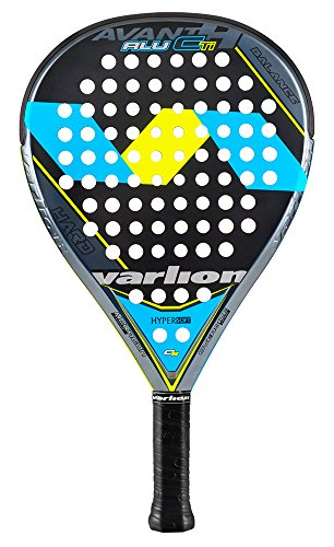 Varlion avant H Alu CTI hard Padel Raquette de tennis Unisexe Adulte, Bleu/Jaune, XXL