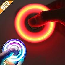 2017| LED | Fidget, Spinner | Gyro, Fidget | Desktop, Toy | mano, dedos, Juguete, ultra rápida giros posible | Glow, Leuchten | Spinner | se construye estrés y temor a partir de | ayuda a Enfocar el Se | Alivia unruhe y nervosität | la Distracción y