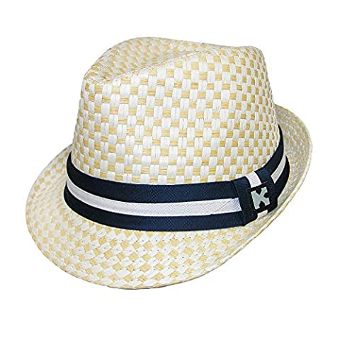 Kenny K Boys' Dressy Toyo Fedora Hat, Beige