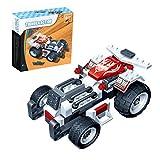 BXT Kinder Bau Spielzeug Rennwagen Auto Puzzle Bildungsaktivität Intelligenz Lernen Spielzeug Selbst zusammenbauen 102 Stück Bausteine Spielzeug Toy Geburtstag Weihnachtsgeschenk für ab 4 Jahre Alter Unisex Kinder (Rot + Weiß)