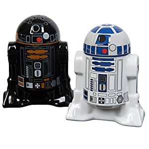 Star Wars Droid Salt and Pepper Shakers, Ceramic Multi-Colour