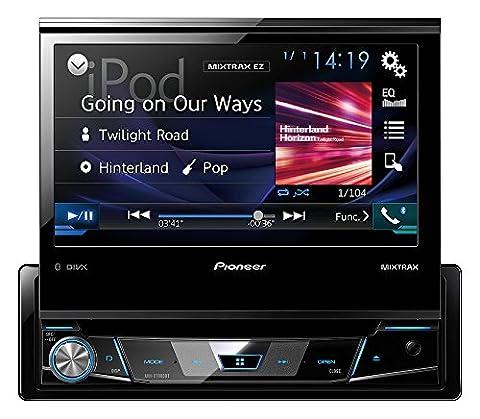 Mediacenter Moniceiver 1 DIN AVH-X7800BT Pioneer Radio mit ausfahrbarem Bildschirm 7 Zoll Touchscreen Monitor, Bluetooth Freisprecheinrichtung, CD, DVD, RDS, USB, AUX, Android & iPod/iPhone kompatibel