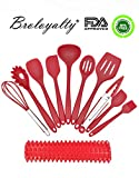 Broloyalty Silicone Kitchen Utensils - 10 Pieces Premium Silicone Cooking Set (Buy 1 Utensil Set Get 1 Non Stick Silicone BBQ Mat Free)