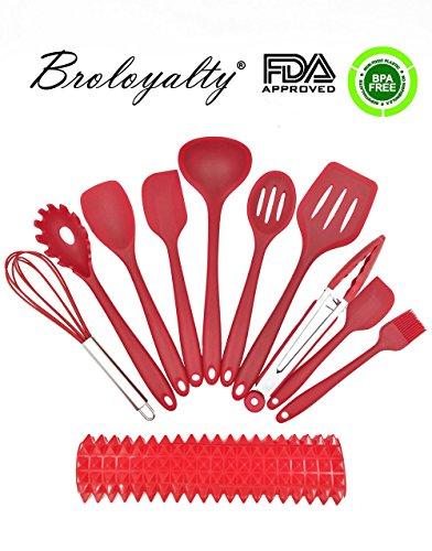broloyalty-silicone-utensili-da-cucina-10-pezzi-in-silicone-premium-set-di-cottura-1-acquisto-utensi