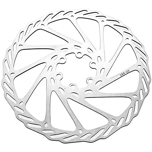 KX-YF Fahrradbremsscheibe MTB Mountainbike Radfahren 8 Zoll 203mm Bremsscheibe Schwimmbeläge 6 Bolt Rotoren Pad Einsteller Bremse Geeignet for Radsportbegeisterte Bremsscheibe (Größe : 203mm 2pack)