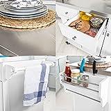 SoBuy® FKW33-W Neu Luxus-Küchenwagen mit Edelstahlplatte, Küchenschrank, Kücheninsel,Servierwagen, Rollwagen, mit Ablage für Mülleimer, Abfalleimer - 6
