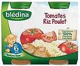 Blédina Tomates Riz Poulet 200g - 12 assiettes - Lot de 6x2 assiettes
