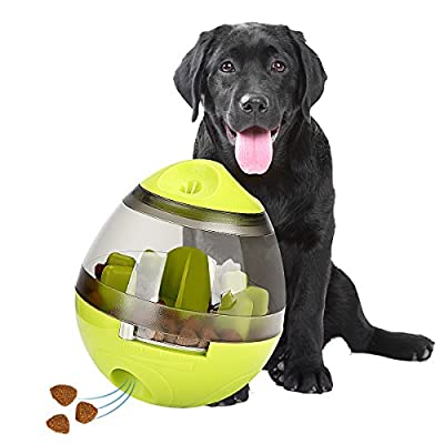 STAJOY Treat Ball Dog Toy, Food Dispensing Ball Interactive Treat-Tumbler Design for Dogs & Cats: Increases IQ and Mental Stimulation