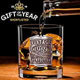 English Pewter Company VIN003 - Vaso de cristal para whisky (50º cumpleaños o aniversario)