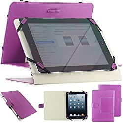 "Housse universel support etui couleur violet simi cuir pour tablette PC 10"" 10.1"" 10.2"" style traditionnel modele ex. Android Tablet PC Tab Epad Apad, MID pad, SuperPad, Samsung Galaxy Tab 10.1 P7500 P7510, Tab 2 10.1"" P5100 P5110, Galaxy Note 10.1 N8000, 10"" Blackberry player book, 10"" E reader book, Acer ICONIA A500 A501, Motorola XOOM MZ601 10"" Advent Vega, etc"