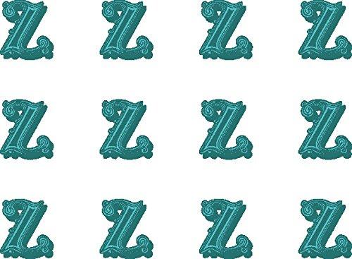 12x Z (Buchstabe) Farbige 38mm (3,8cm) vorgeschnittenen Essbares Reispapier Cupcake Dekoration # ()