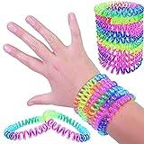 German Trendseller 6 x Twist Regenbogen Armbänder für Kinder ┃ Neu ┃ Einhorn Schweif ┃ Neon - Farb - Mix ┃ Kindergeburtstag ┃ Mitgebsel ┃ Kinderschmuck ┃ Spiral Armbänder ┃ 6 Stück