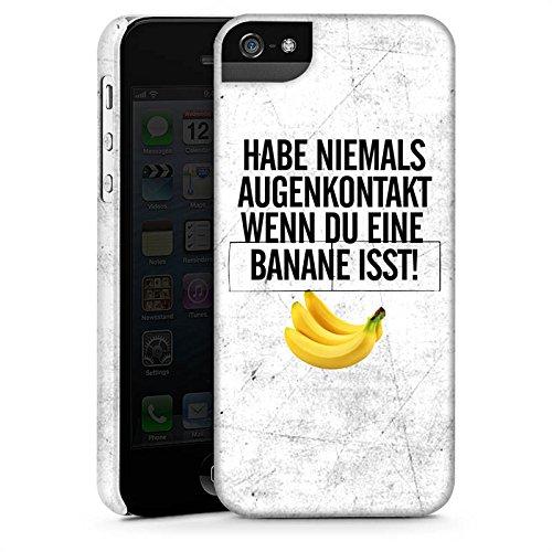 Apple iPhone X Silikon Hülle Case Schutzhülle Augenkontakt Banane Sprüche Premium Case StandUp