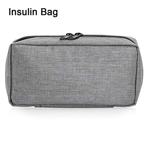 510%2B31DigPL - Bolsa de refrigeración portátil - insulina nevera viaje caso para la pluma de insulina y suministros para diabéticos inserto de refrigeración para caja plegable(Gray)