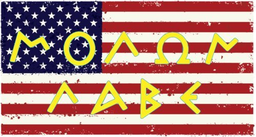 WickedGoodz 2Pc American Flag Molon Labe Vinyl Aufkleber Set - Perfekte Set rot, weiß, blau, gelb