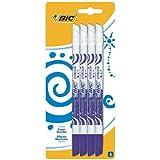 BIC Mini Effaceurs Réécriveurs - Encre Bleue, Blister de 4