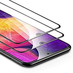 ESR Panzerglas kompatibel mit Samsung Galaxy A50/ A50s /M30s(2er Pack) - 2,5D Full-Screen Kantenschutz - Splitterfester Displayschutz Ohne Fingerabdrücke und mit Gratis Montageset Schutzfolie