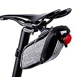 HzDirect bicicletta sella impermeabile riflettente Seat wedge bag con sgancio rapido per bici BMX mountain bike strada