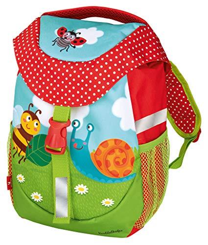 moses. Krabbelkäfer Rucksack für Kinder | Kindergartentasche mit Brustgurt | Für Mädchen und Jungen Kinder-Rucksack, 30 cm, Bunt Polyester-jungen-clip